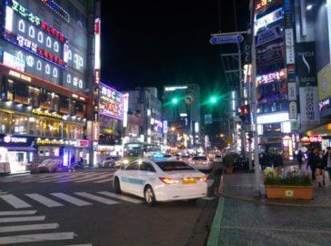 Seomyeon in Busan bei Nacht