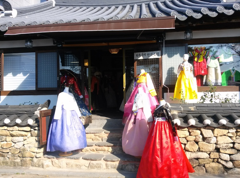 Hanbok Verleih im Jeonju Hanok Dorf