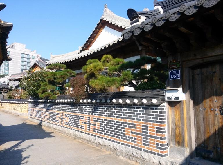 Typisches Hanok Haus in im Jeonju Hanok Dorf