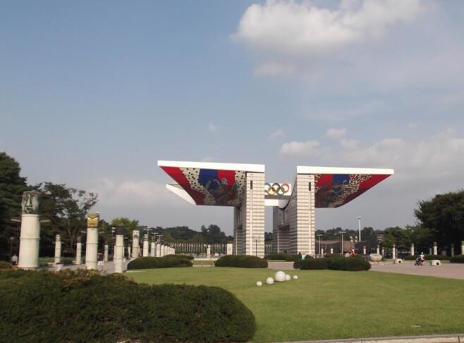 Der Olympiapark in Seoul
